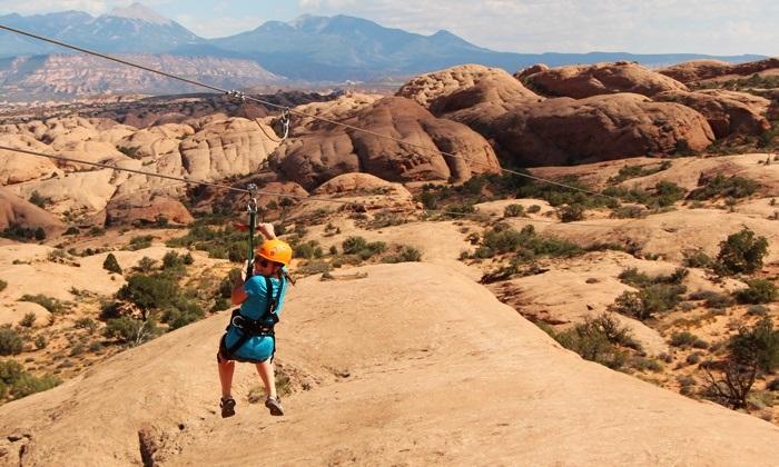 Ziplining in Moab
